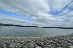 Carsington Water along the dam